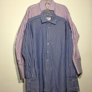 Set of 2 Charles Tyrwhitt Button Up Stripe Shirts